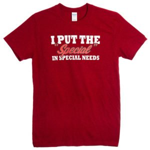 The Special in Special Needs T-Shirt Red front